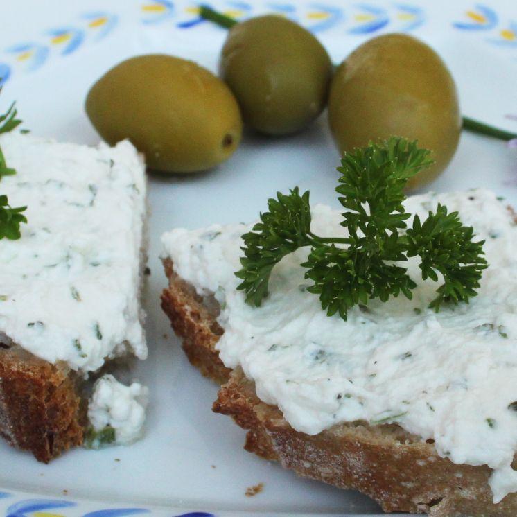tartine fromage persillé